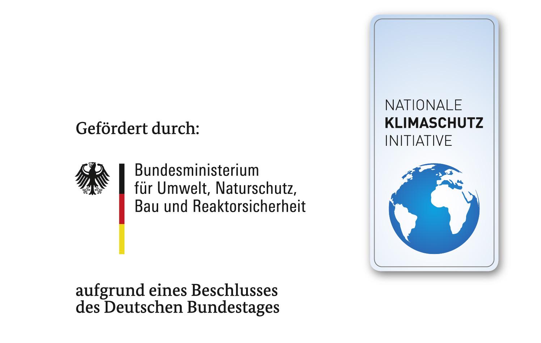 Logo der Klimaschutzinitative und des Fördermittelgebers