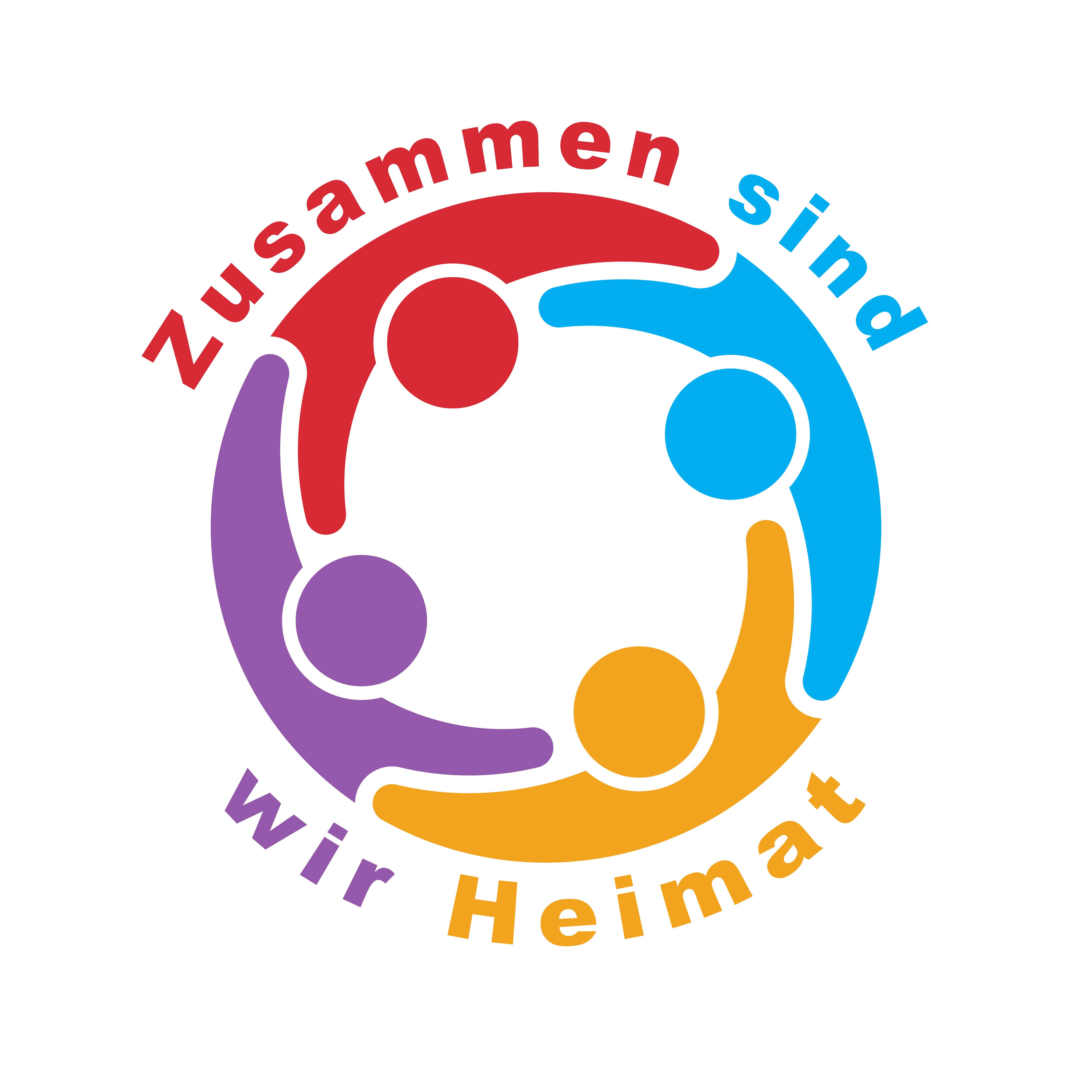 """Logo """"Zusammen sind wir Heimat"""""""