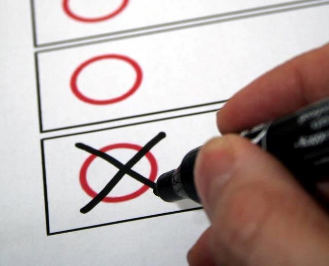 angekreuzter Stimmzettel