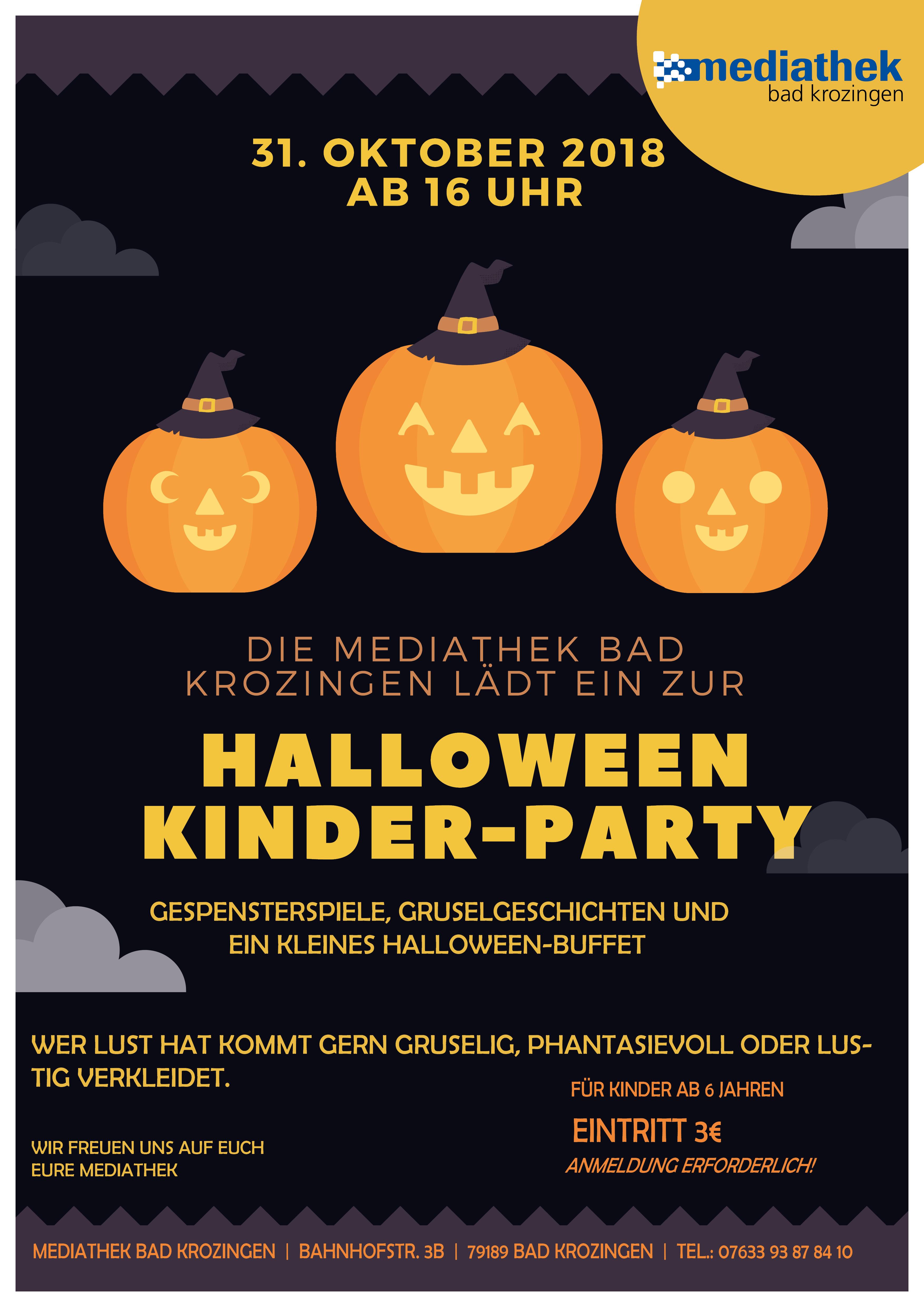 Halloween- Kinder- Party