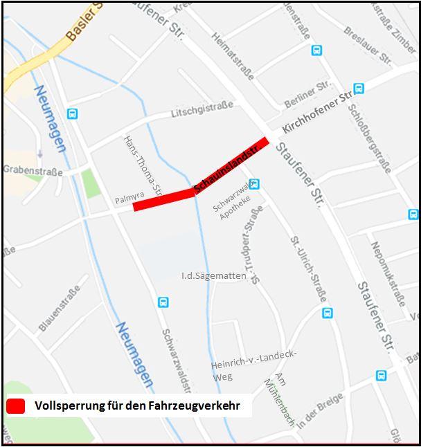 Vollsperrung Schauinslandstraße
