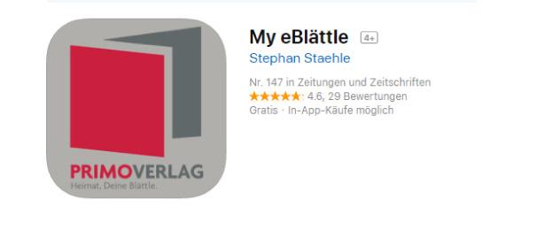 Die My eBlättle-App