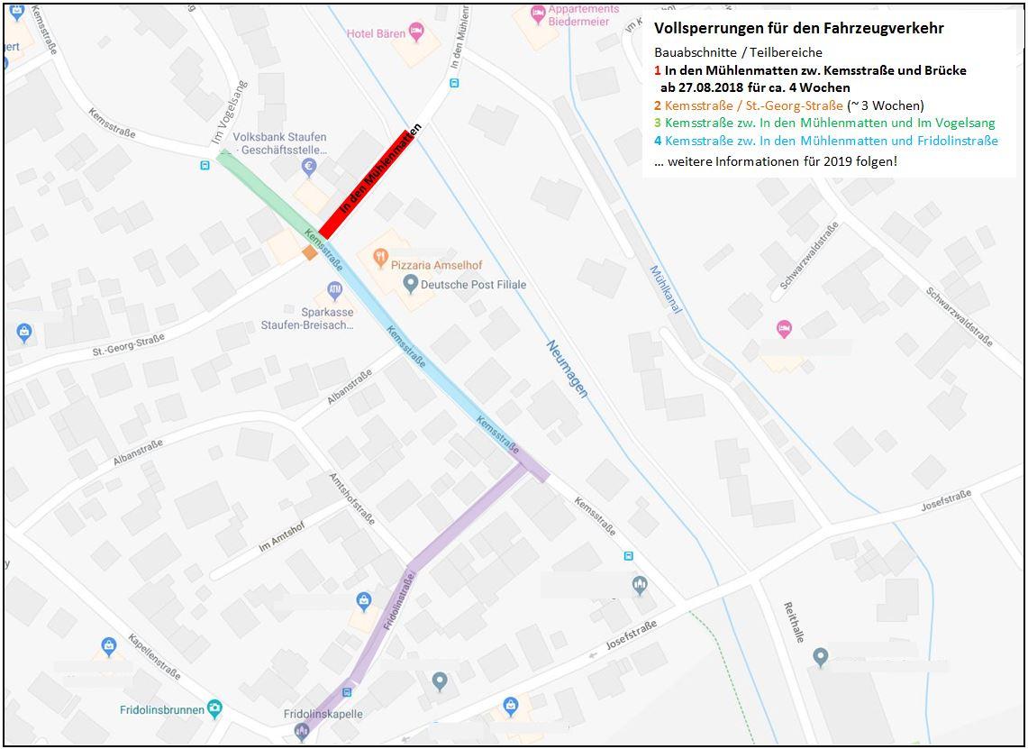 Plan von den Baumaßnahmen in Bad Krozingen