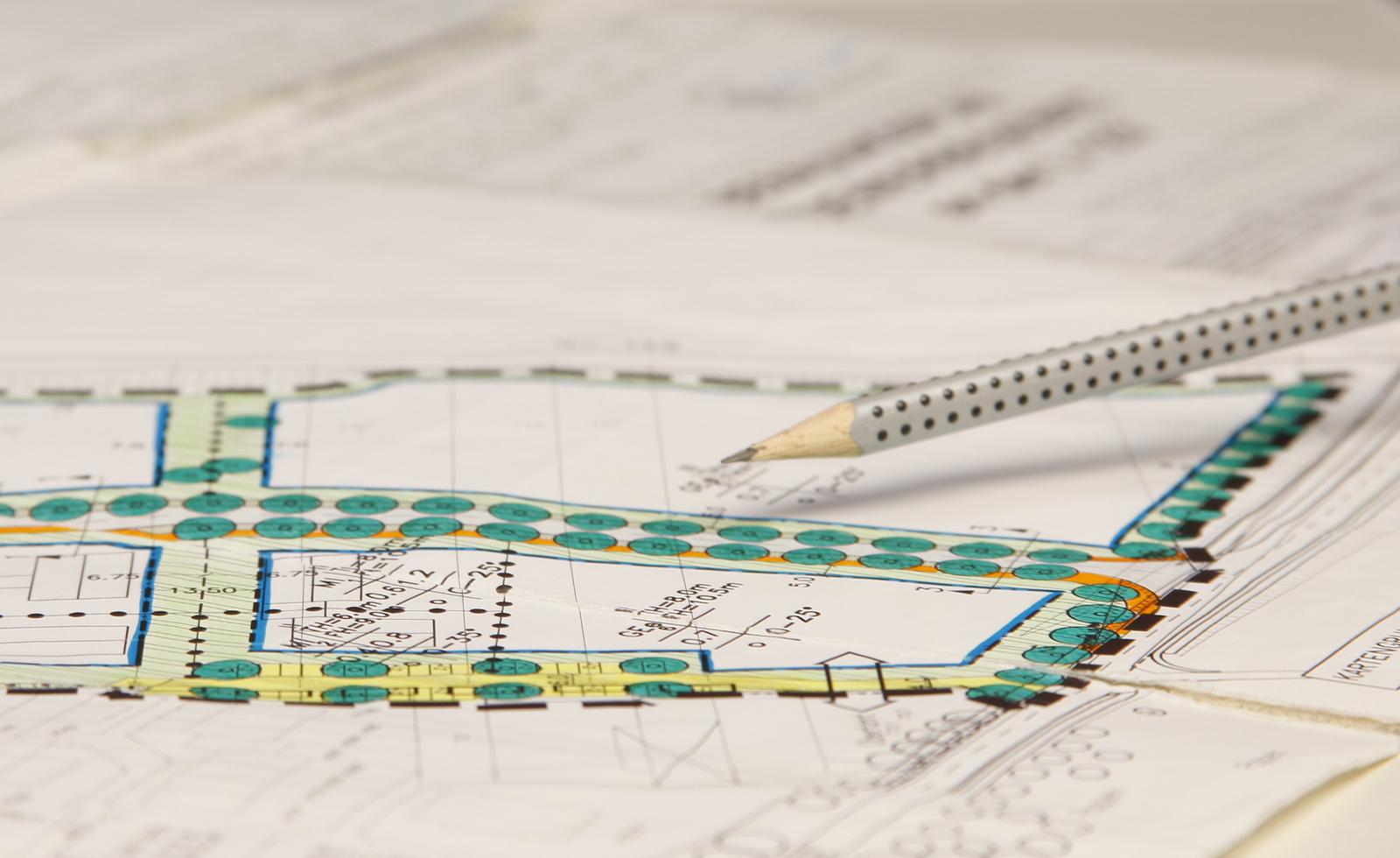 Bild eines Bebauungsplanes
