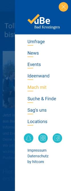 Bild von der Jugendbeteiligungs-App