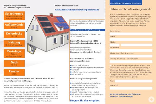 Informationen zur Energiekarawane