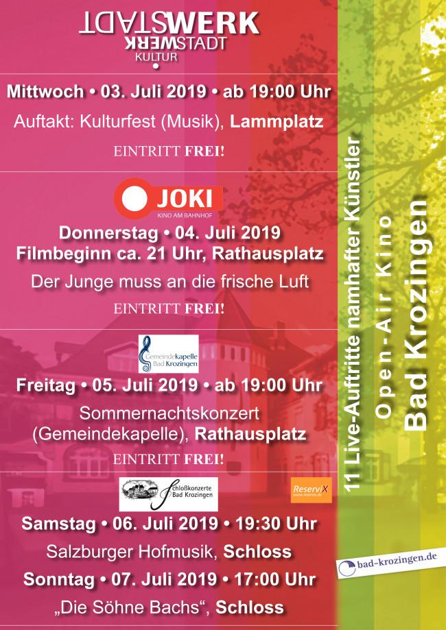 Plakat des StadtWERK-Festivals 2019