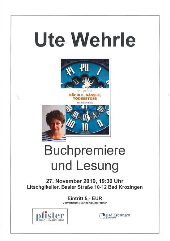 Lesung Ute Wehrle 23.11.2019