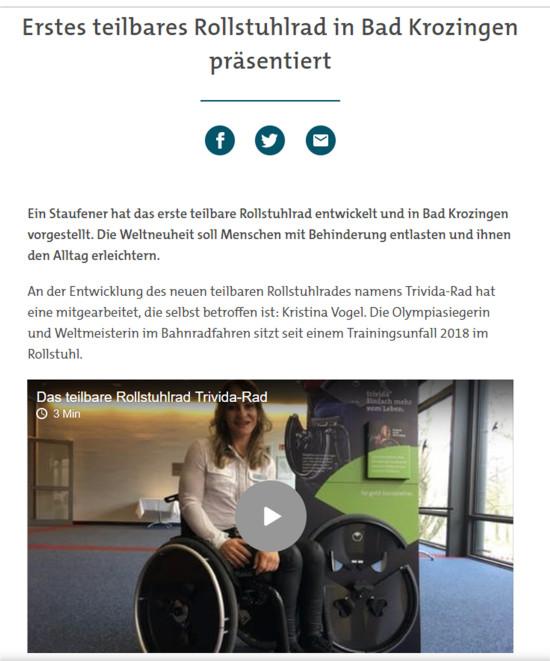 Erstes teilbares Rollstuhlrad vorgestellt