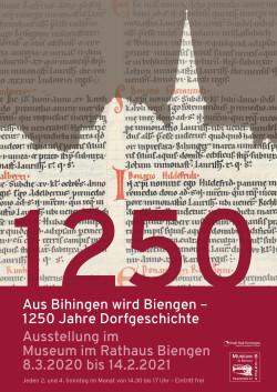 """Sonderausstellung im Rathaus in Biengen """"1250 Jahre Dorfgeschichte"""""""