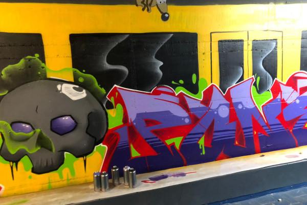 Graffiti Aktion im Jugendzentrum Bad Krozingen