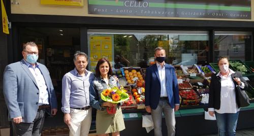 Bild von der Eröffnung des Kiosk im Kems