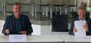 BM Kieber und Matthias Wollny unterzeichnen Ingenieursverträge