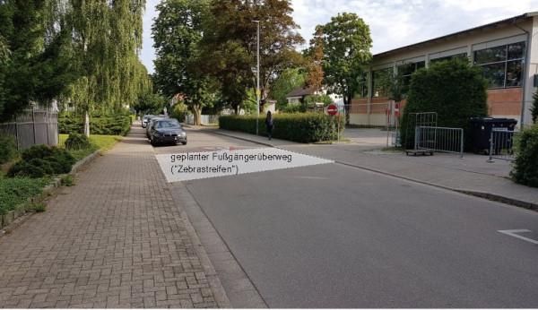 Geplanter Fußgängerüberweg an der Johann-Heinrich-von-Landeck-Schule