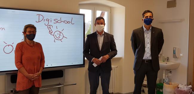 Vorstellung des Pilotprojektes Digitale Tafel an der Grundschule Tunsel