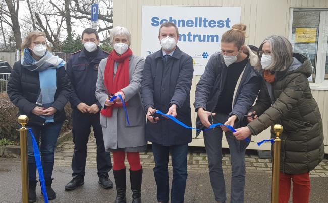 Eröffnung des kommunalen Schnelltestzentrums Bad Krozingen