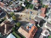 Luftbild Innenstadt Rathausplatz