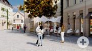 Visualisierung Neuer Rathausplatz_Basler Straße