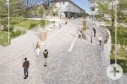 Visualisierung der neuen Bernhardusbrücke