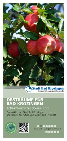 Aktion Obstbäume für Bad Krozingen