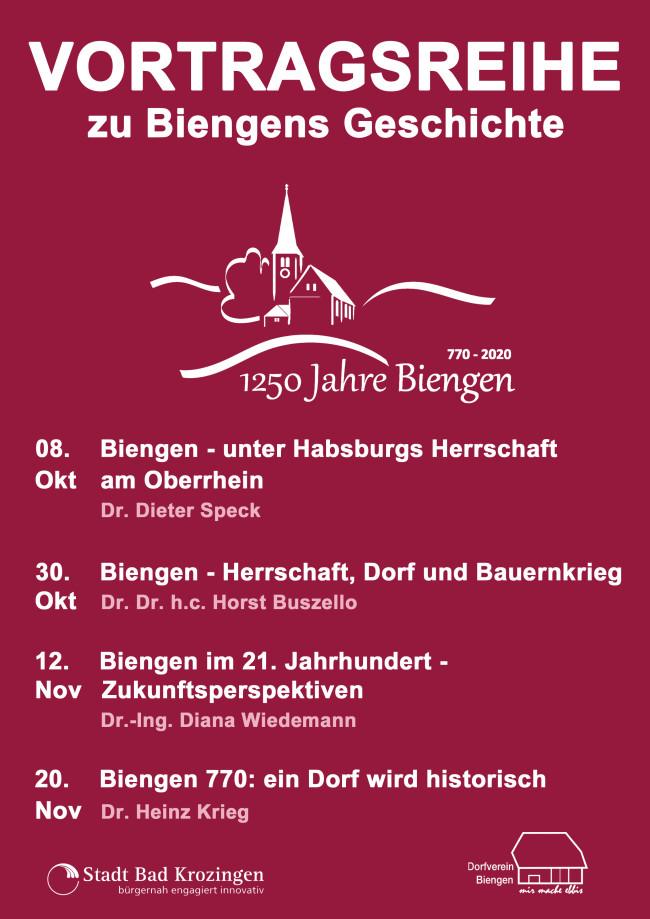 Veranstaltungen Geschichte Biengen